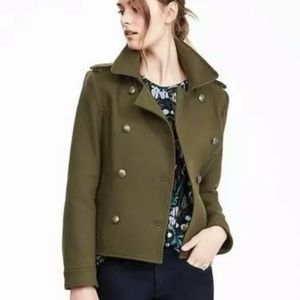 Cropped Military Peacoat
